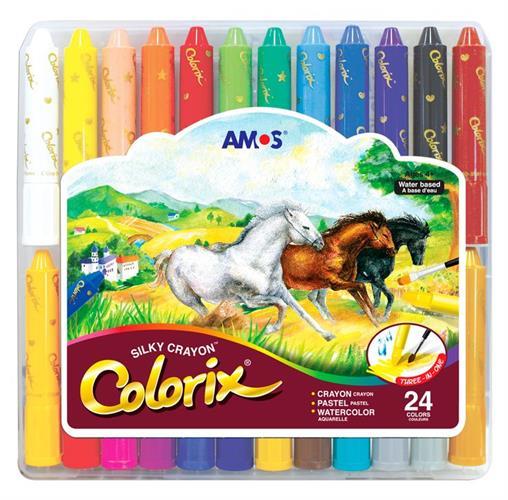 צבעי קולוריקס סט 24 יח AMOS