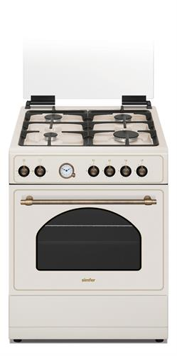 תנור משולב כפרי שמנת SZ6060 LUXOR