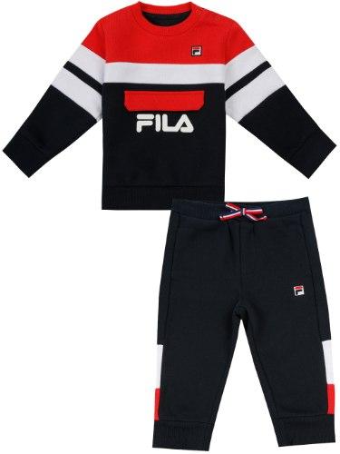 חליפת פוטר בנים כחול/אדום/לבן FILA - מידות 6 עד 24 חודשים