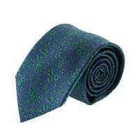 עניבה קלאסית פרחים ירוק כחול