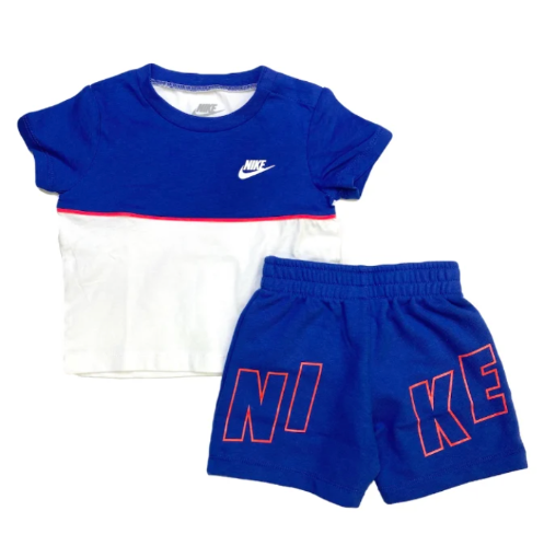 חליפת ספורט כחול/לבן NIKE בנים - 12 חודשים עד 4 שנים