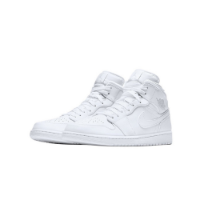 Nike Air Jordan 1 Mid White Pure Platinum
