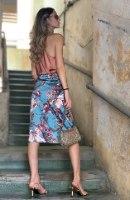 חצאית מעטפת פרחים