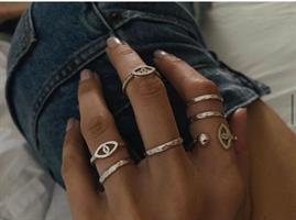 טבעת עין כסף
