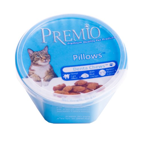 פרמיו חטיף כריות דנטלי לחתולים 60 גרם - PREMIO CAT TREATS DENTAL 60G