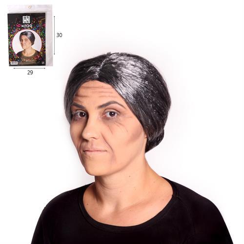 פאה סבתא שיער אפור