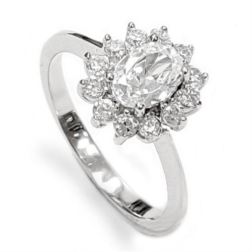 טבעת כסף משובצת אבני זרקון  RG5965 | תכשיטי כסף | טבעות כסף