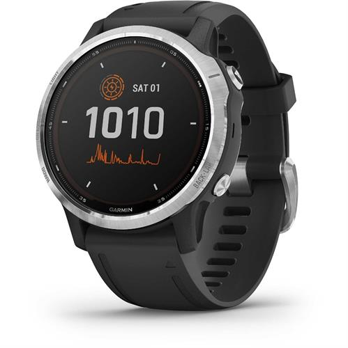 שעון דופק Garmin Fenix 6s Solar Silver with Black Band