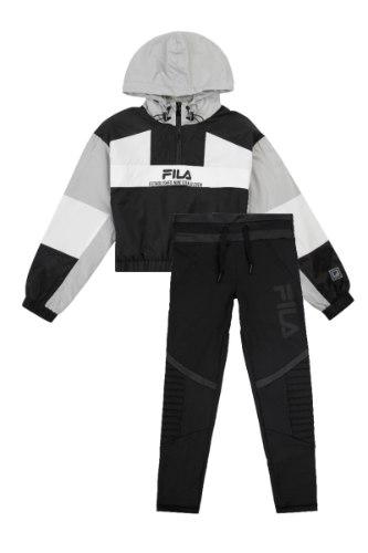 חליפת ניילון שחור/אפור/לבן FILA - מידות 6-16
