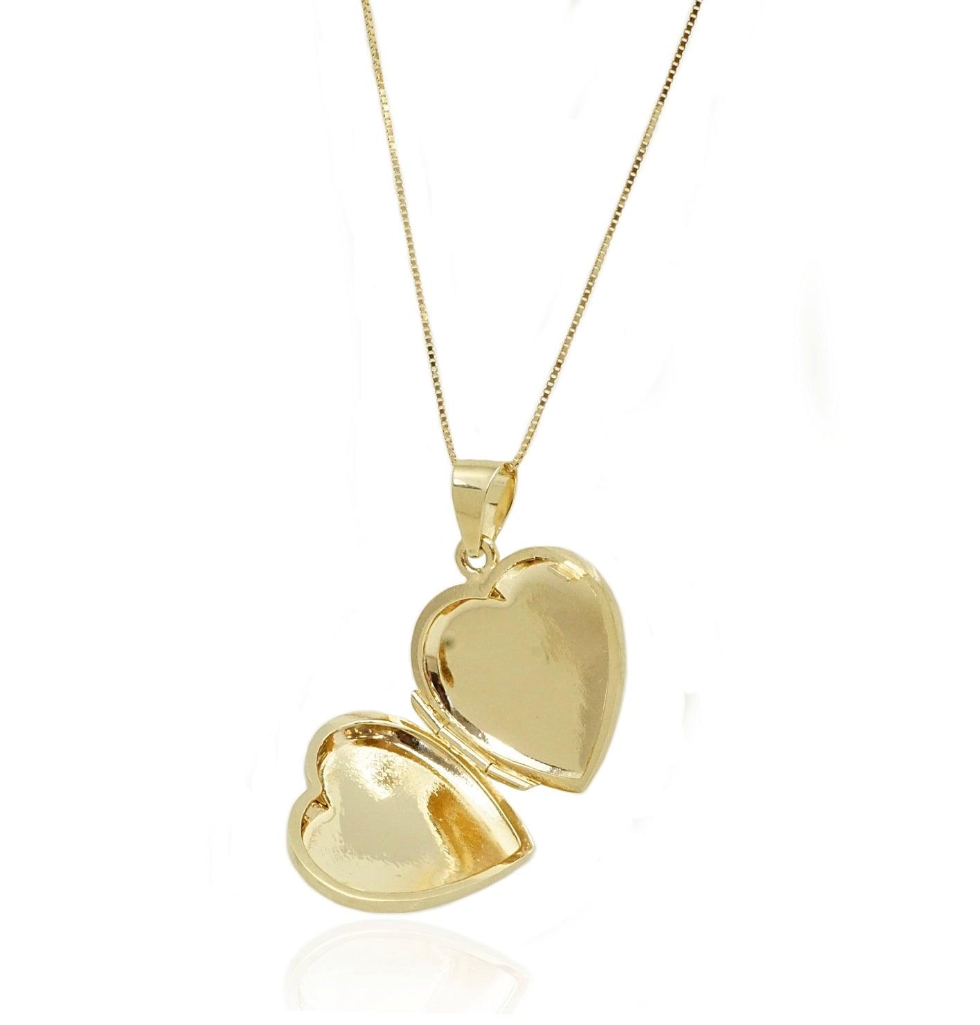 שרשרת לב נפתח מזהב | תליון לב נפתח לחריטה