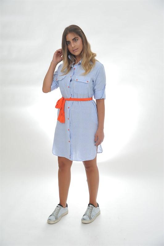 שמלת פסים וחגורה