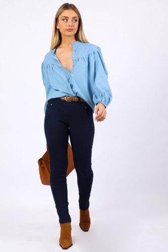 מכנס ביילי כחול כהה