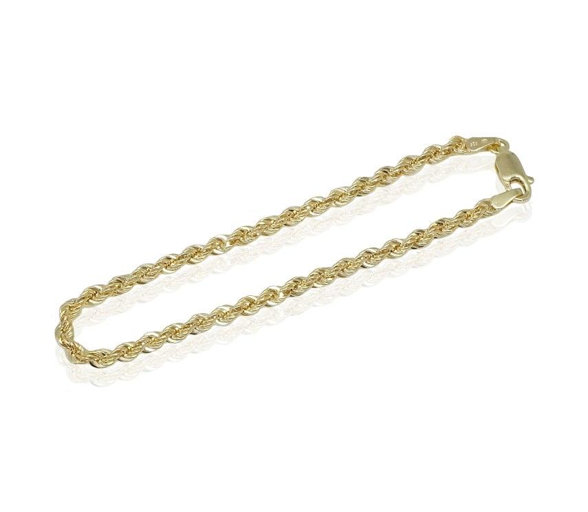צמיד זהב חבל 14 קראט  לאישה