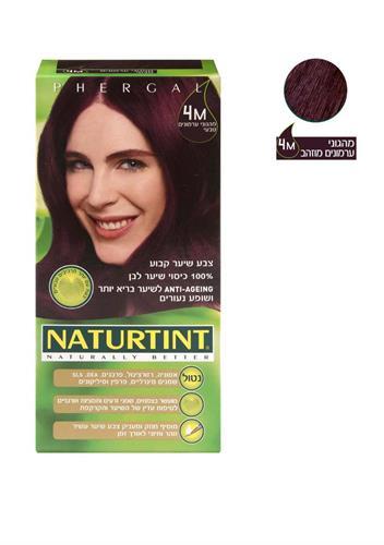 נטורטינט 4M צבע לשיער מהגוני ערמונים מוזהב