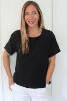 חולצת משי שחורה