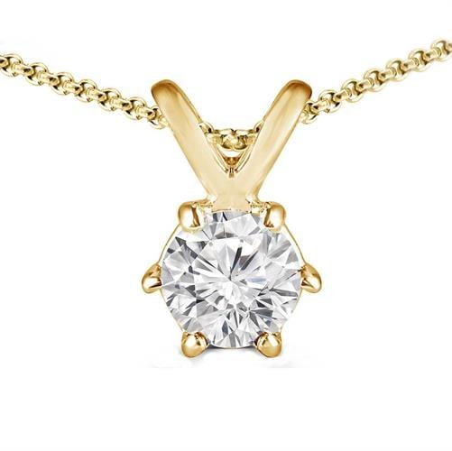 שרשרת יהלום | תליון יהלום |50 נקודות |בזהב 14 קאראט