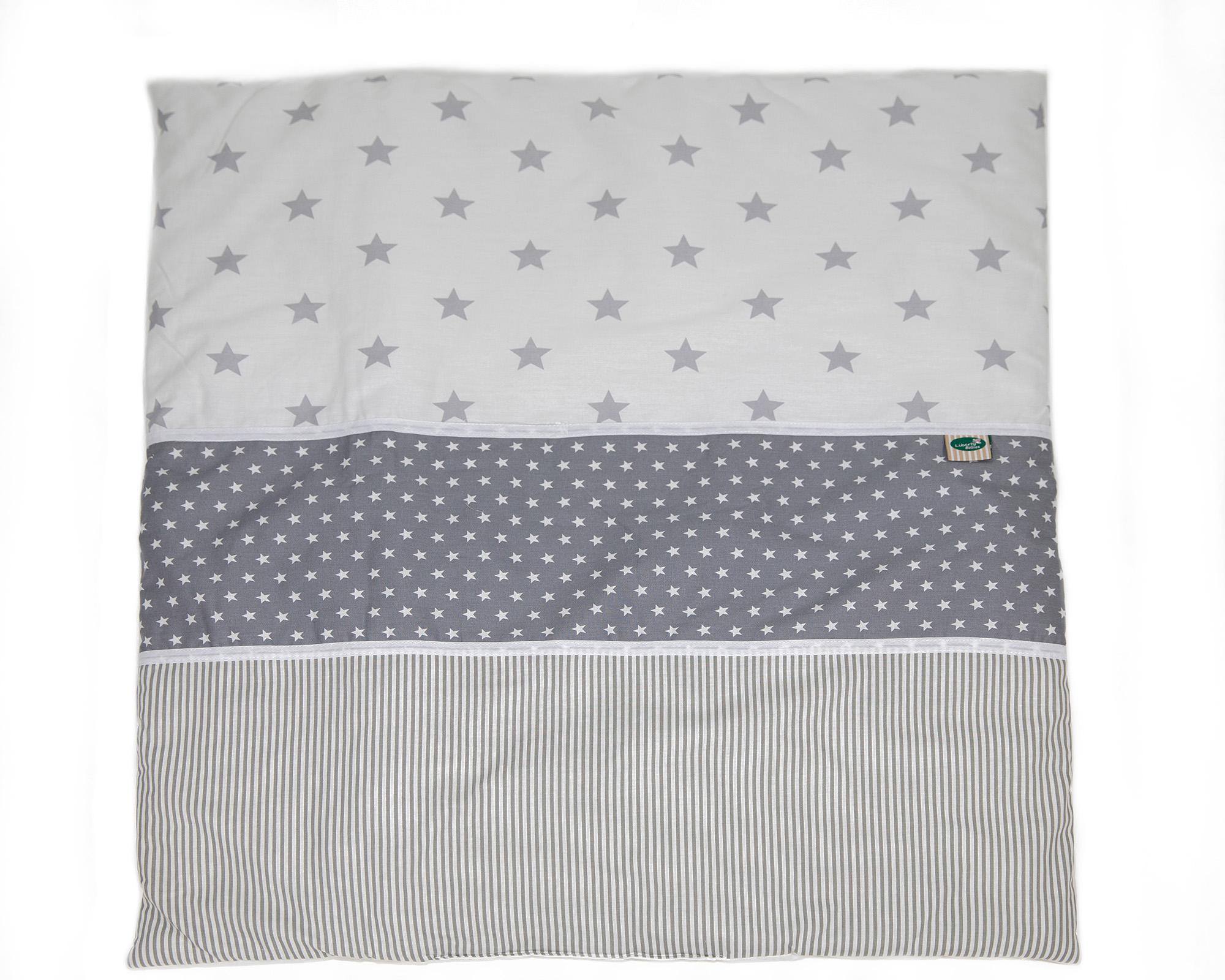 שמיכה למיטה אפור כוכבים