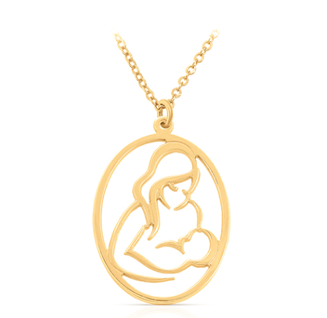 שרשרת אמא מחזיקה תינוק