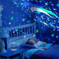 מנורת לילה כוכבים באפקטים מרהיבים