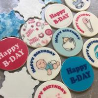Birthday set to 4 cm round stencil mat Transfer sheet