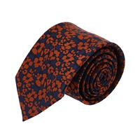 עניבה פרחים קלאסיים כתום