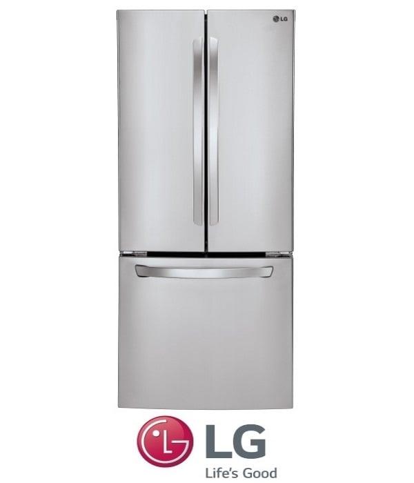 LG מקרר 3 דלתות דגם GRB240RSA נירוסטה