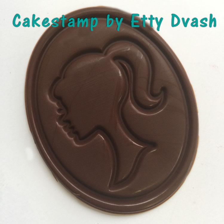 תבנית צללית- כלה - יחידה אחת -  ליצירה בשוקולד