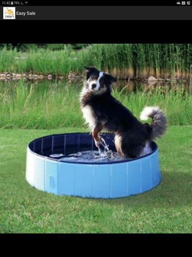 """בריכה לכלב+ כיסוי  קוטר 80 ס""""מ גובה 20 ס""""מ"""