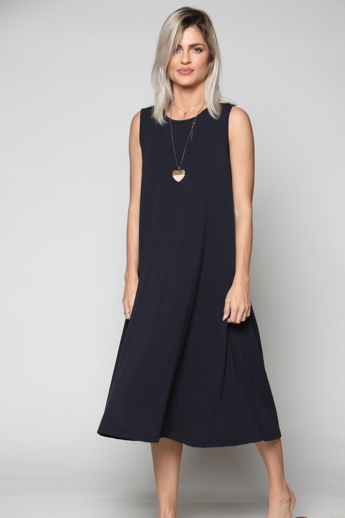 שמלת נשים מקסי ללא שרוול