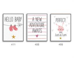 סט של 3 תמונות השראה מעוצבות לחדר תינוקות דגם  03