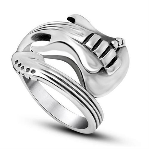 טבעת פלדה (Stainless steel) גברים נשים גיטרה OP111600047-IN