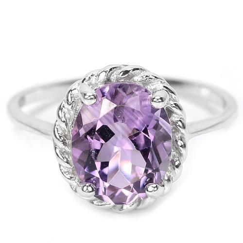 טבעת כסף משובצת אמטיסט סגול RG1031