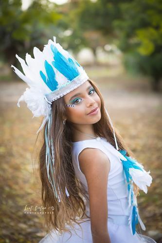 תחפושת אינדיאנית נסיכותית בצבע לבן
