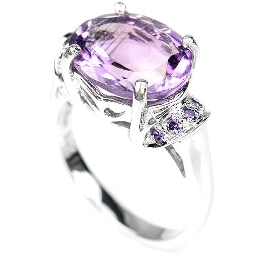טבעת כסף משובצת אמטיסט סגול RG7211