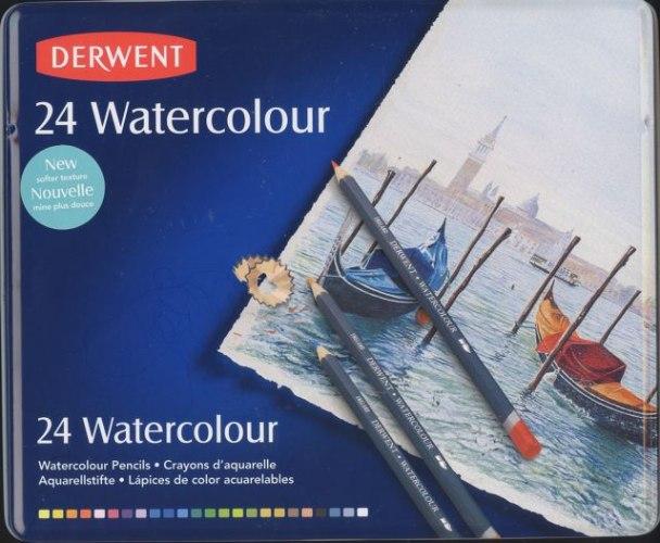 עפרונות WATERCOLOR צבעוניים - DERWENT