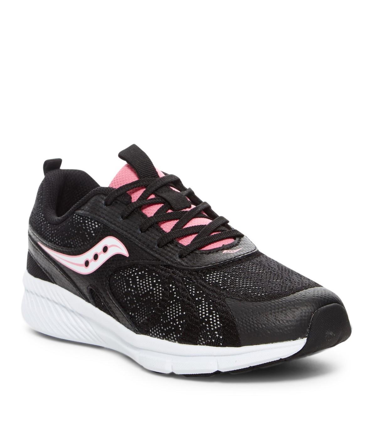 נעלי נשים סקוני צבע שחור/ורוד דגם SY56427