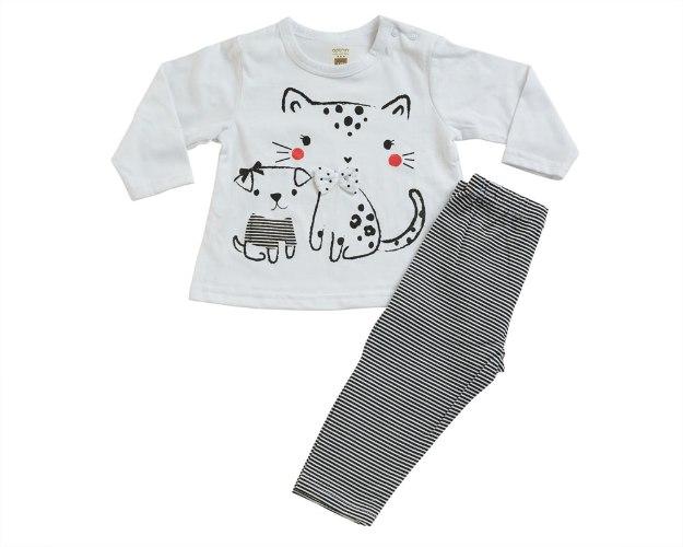 חליפת מעבר חתול לבן מכנס לייקרה