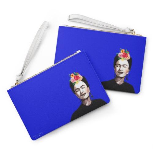 עותק של ארנק עם רוכסן- פרידה קאלו כחול