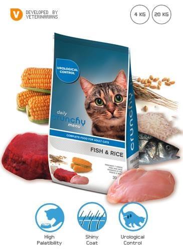 """קרנצ'י בוגר חתול דג וירקות 20 ק""""ג"""