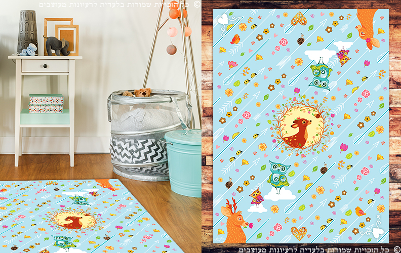 שטיח פי וי סי לכיסא ילדים| שטיח למטבח |שטיח פי וי סי | שטיח PVC | שטיחי פי וי סי מעוצבים