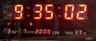 שעון קיר חשמלי לד גולף GOLF 3615R עם תאריך וטמפרטורה