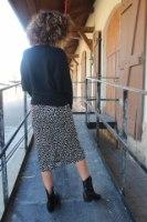חצאית ליאופרד שחור לבן
