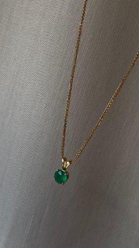 שרשרת אוניקס ירוק זהב 14 קראט
