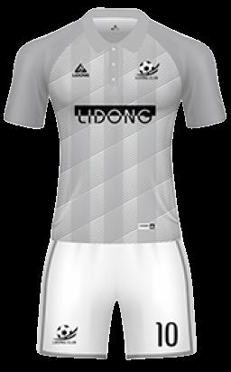 חליפת כדורגל לבן אפור