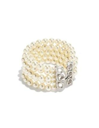 Salvatore Ferragamo  white swarovski pearl bracelet