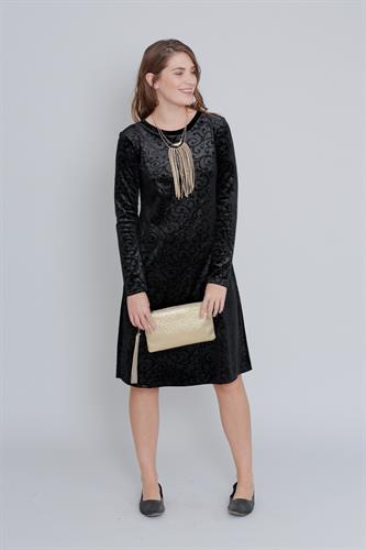 שמלת קטיפה שחורה