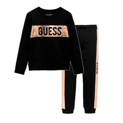 חליפת GUESS שחורה עם לוגו רוז גולד  - 3 חודשים עד 7 שנים