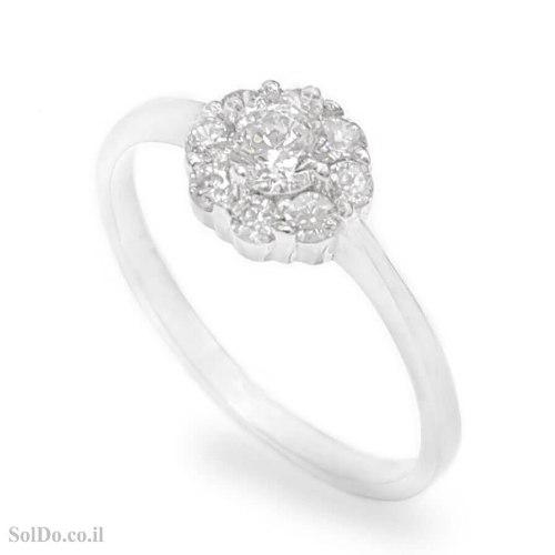 טבעת מכסף עדינה משובצת אבני זרקון  RG6199 | תכשיטי כסף | טבעות כסף