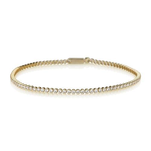 מיוחדים צמיד טניס מזהב 14K - תכשיטי זהב | Askapa EP-12