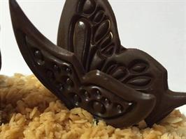 תבנית פרפר בודד לקישוט קאפקייקס מזולפים - שוקולד